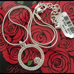 Brighton Silver Round Swarovski Crystal Necklace
